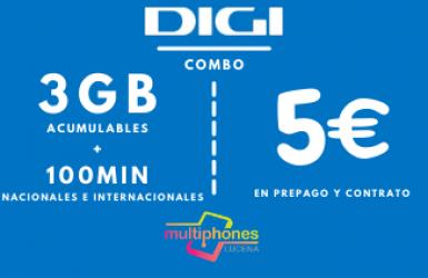Digi Combo 3GB por sólo 5€/mes