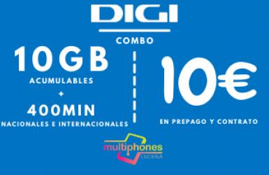 Digi Combo 10GB por sólo 10€/mes