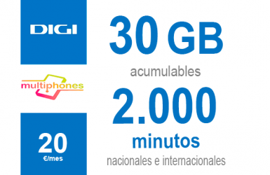 Digi Combo 30GB por sólo 20€/mes