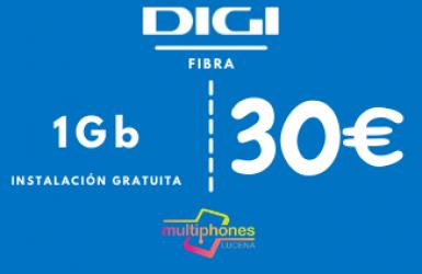 Digi net – FIBRA 1Gb por 30€/mes