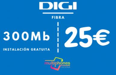 Digi Net – FIBRA 300Mb 25€/mes