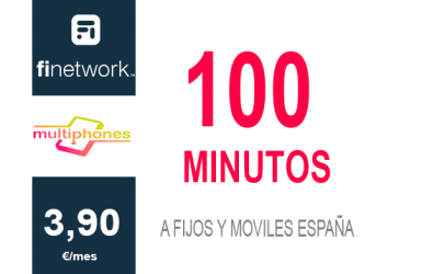 Finetwork 100 minutos por 3,90€/mes