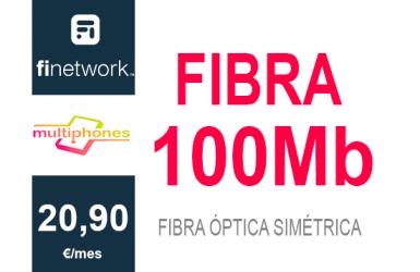 Finetwork Fibra 100Mb sólo 20,90€/mes