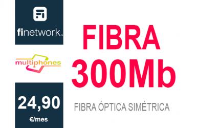 Finetwork Fibra 300Mb sólo 24,90€/mes