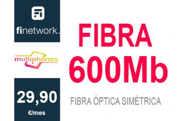 Finetwork Fibra 600Mb sólo 29,90€/mes