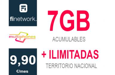 Finetwork 7Gb por sólo 9,90€/mes