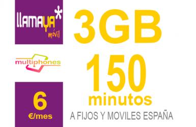 Llamaya – Plan 3Gb 6€