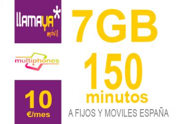 Llamaya – Plan 7Gb 10€