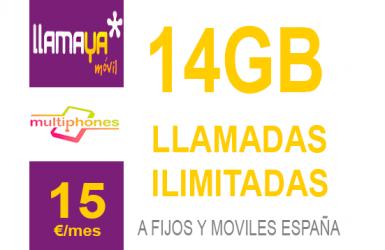 Llamaya – Plan 14Gb 15€
