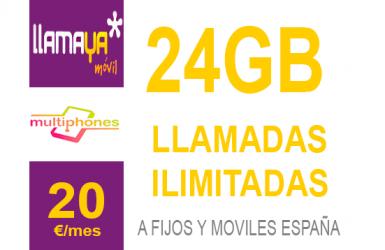 Llamaya – Plan 24 GB 20€