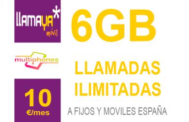 Llamaya – Plan 6GB 10€
