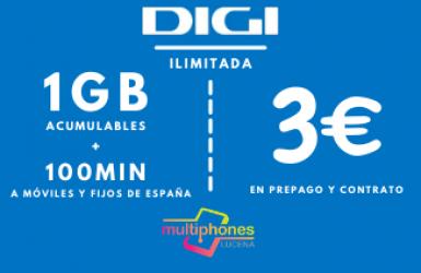 Digi Mini 1Gb por sólo 3€/mes