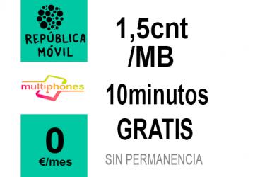 República Móvil Cero 0GB por 0€/mes