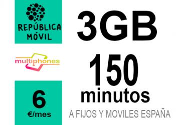 República Móvil Mini + 3GB 6€/mes