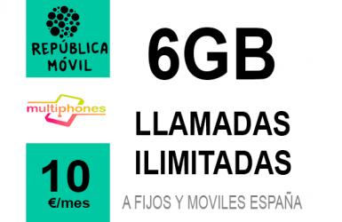 República Móvil Pequeña ∞ 6GB 10€/mes