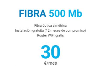 Digi – FIBRA 500Mb 30€