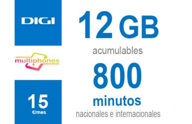 Digi Combo 12GB por sólo 15€/mes
