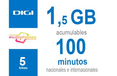 Digi Combo 1,5GB por sólo 5€/mes