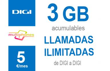 Digi Navega 3GB por sólo 5€/mes