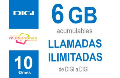 Digi Navega 6GB por sólo 10€/mes