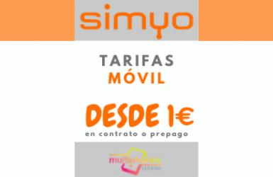 SIMYO tarifas de contrato y prepago