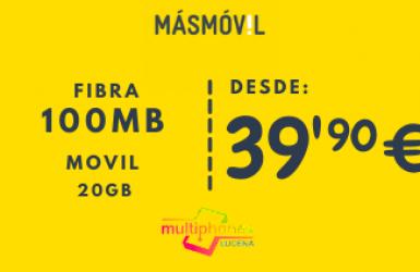 MÁSMÓVIL FIBRA+MOVIL 100MB