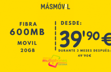 MÁSMÓVIL FIBRA+MOVIL 600MB
