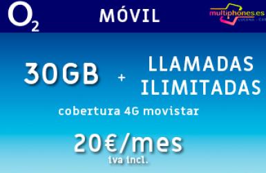 O2: MOVIL 30GB